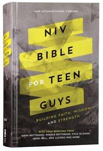 NIV Bible For Teen Guys (Black Letter Edition)