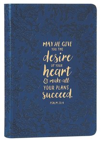 Journal: May He Give You the Desire of Your Heart Navy/Floral (Psalm 20:4)