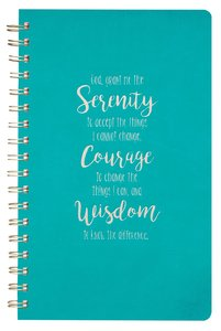 Luxleather Wirebound Journal, Serenity Prayer