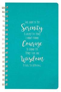 Spiral Journal, Serenity Prayer, Luxleather