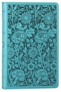 ESV Premium Gift Bible Teal Floral Design