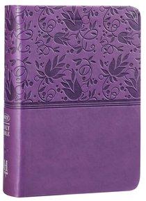 NKJV Large Print Compact Reference Bible Purple
