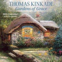 2018 Thomas Kinkade Gardens of Grace Wall Calendar
