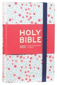 NIV Thinline Bible Floral Cloth