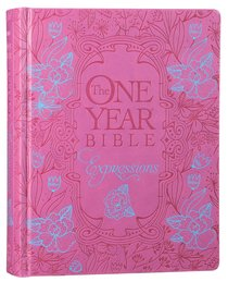 NLT One Year Bible Expressions Pink Flower Deluxe (Black Letter Edition)