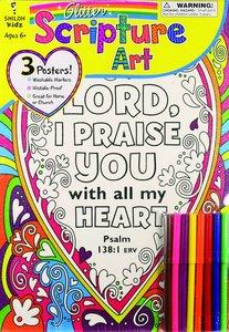 Glitter Scripture Art Poster Set (Incl Pencils)