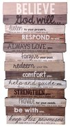 Stacked Word Wall Plaque: Believe, Mdf/Paper, Medium