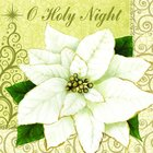 Christmas Napkins: O Holy Night, White Poinsettia Homeware
