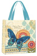 Bible Study Tote Bag: Grateful Heart (Blue Butterfly)