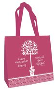 Tote Bag: Love Each Other... (Raspberry)
