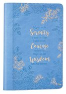 Journal: Serenity Prayer, Blue Floral, Slimline Imitation Leather