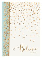 Journal: Believe Light Blue/White/Gold Leatherluxe