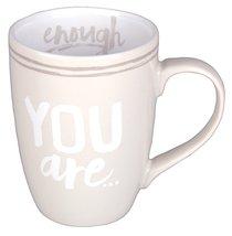 Ceramic Mug: You Are Enough, Cream/White (2 Peter 1:3)