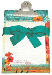 Poppies: Clipboard Giftset, She is Strong