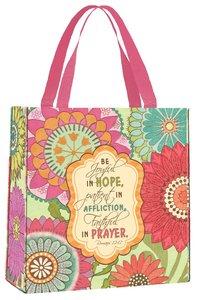 Bible Study Tote Bag: Joyful Flower