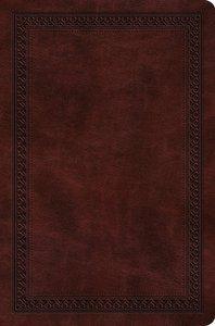 ESV Value Compact Bible Mahogany Border Design (Black Letter Edition)