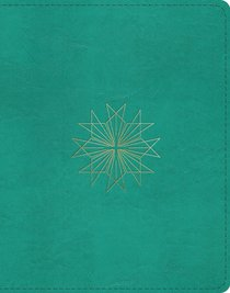 ESV Single Column Journaling Bible Teal Resplendent Cross Design (Black Letter Edition)