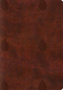 ESV Single Column Journaling Bible Large Print Trutone Chestnut Leaves Design (Black Letter Edition)