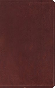 ESV Thinline Bible Brown Red Letter Edition