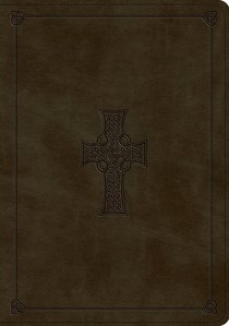ESV Bible Olive Celtic Cross Design