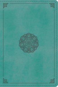 ESV Study Bible Personal Size Turquoise Emblem Design