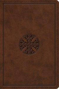 ESV Study Bible Personal Size Brown Mosaic Cross Design
