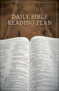 Daily Bible Reading Plan (ESV) (Pack Of 25)