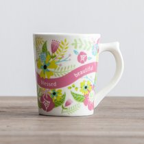 Classic Ceramic Mug: Beautiful Beyond Words Fear the Lord, Floral (Prov 31:30 Nkjv)