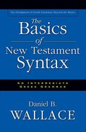 Basics of New Testament Syntax eBook