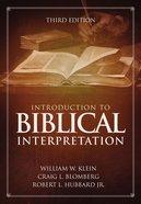 Introduction to Biblical Interpretation eBook