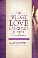 The 30-Day Love Language Minute Devotional #01 eBook
