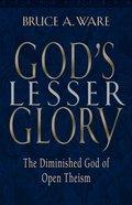God's Lesser Glory eBook