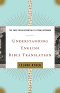 Understanding English Bible Translation eBook