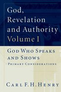 God, Revelation and Authority (Set Of 6) eBook