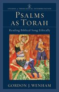 Psalms as Torah eBook