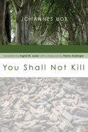 You Shall Not Kill eBook