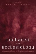 Eucharist and Ecclesiology eBook