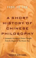 A Short History of Chinese Philosophy eBook
