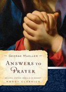 Answers to Prayer Paperback