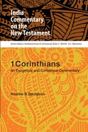 1 Corinthians - An Exegetical and Contextual Commentary (India Commentary On The New Testament Series) Paperback