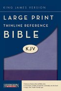 KJV Large Print Thinline Reference Bible Violet/Lilac (Red Letter Edition) Imitation Leather
