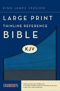 KJV Large Print Thinline Reference Bible Slate/Blue (Red Letter Edition) Imitation Leather