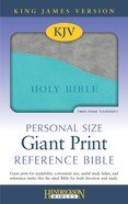 KJV Personal Size Giant Print Reference Bible Turquoise/ Gray Red Letter Edition