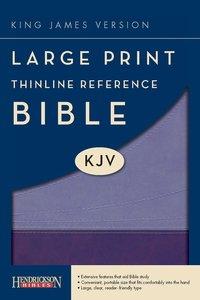 KJV Large Print Thinline Reference Bible Violet/Lilac (Red Letter Edition)