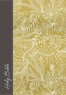 NKJV Compact Large Print Reference Bible Yellow/White Hardcover Hardback