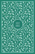 KJV Thinline Bible Large Print Green (Red Letter Edition) Hardback