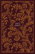KJV Thinline Reference Bible Burgundy/Orange (Red Letter Edition) Hardback