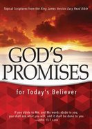 God's Promises For Today's Believer: Topical Scriptures From the King James Version Easy Read Bible Paperback