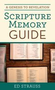 A Genesis to Revelation Scripture Memory Guide Paperback