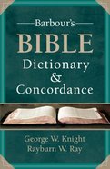 Barbour's Bible Dictionary and Concordance
